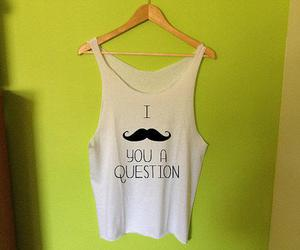 fashion, girl, and mustache image