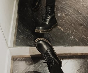 aesthetic, dark, and doc martens image