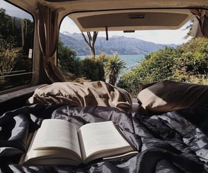 travel, book, and nature image