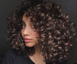 beautiful, beauty, and curly image
