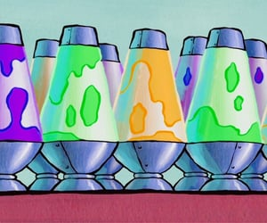 spongebob, spongebob squarepants, and lava lamps image