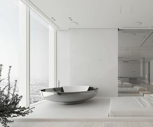 architecture, bathroom, and dream house image