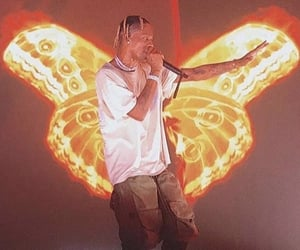 astroworld, butterfly, and travis image