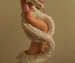 snake, aesthetic, and glitter image