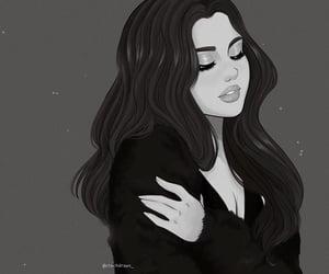 drawing, selena gomez, and edit image