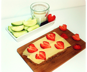 apple, bread, and breakfast image