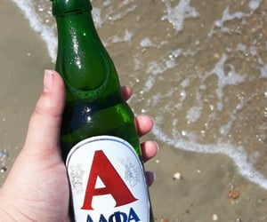 beer, Greece, and sea image
