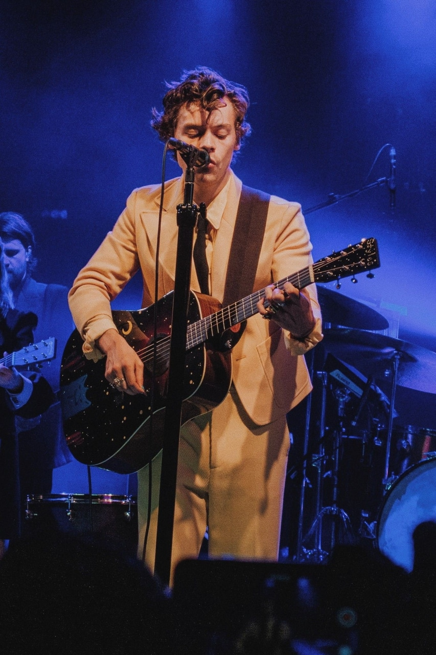 Harry Styles and concert image