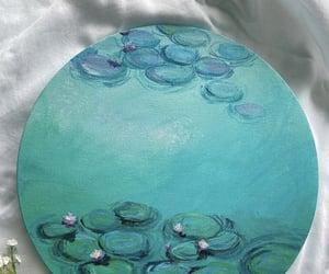 acrylic paint, aqua, and canvas image