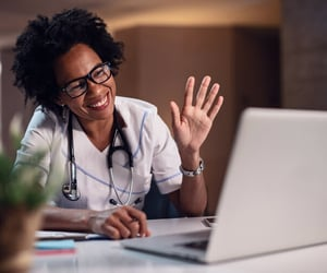 online doctor appointment, online healthcare, and telemedicine services image