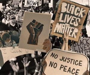 words and black lives matter image