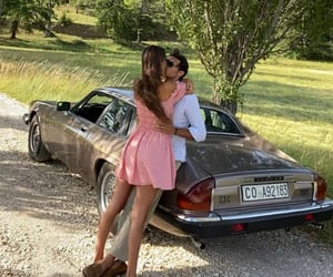 couple, love, and car image