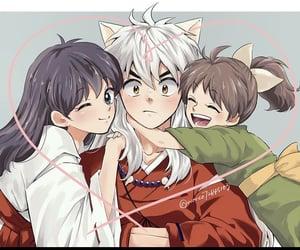 anime, red, and inuyasha image