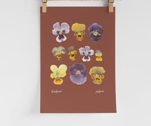 artist, floral, and floral print image