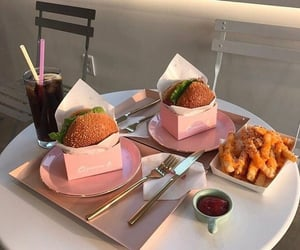 food, aesthetic, and burger image