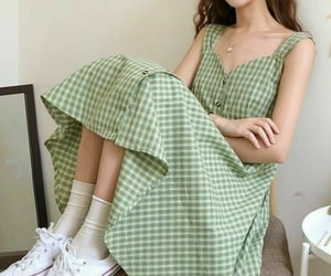 beautiful, clothes, and green image