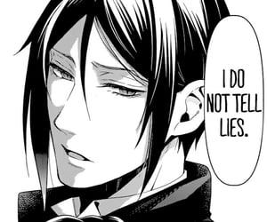 black butler, manga, and sebastian image