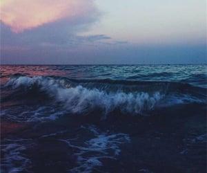 blue, dark, and sea image