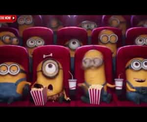 kids, minions, and video image