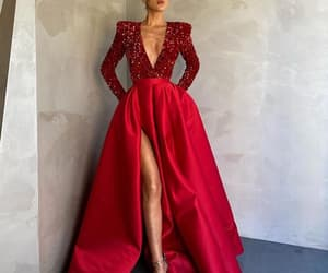 evening gown, red prom dress, and 2021 prom dresses image