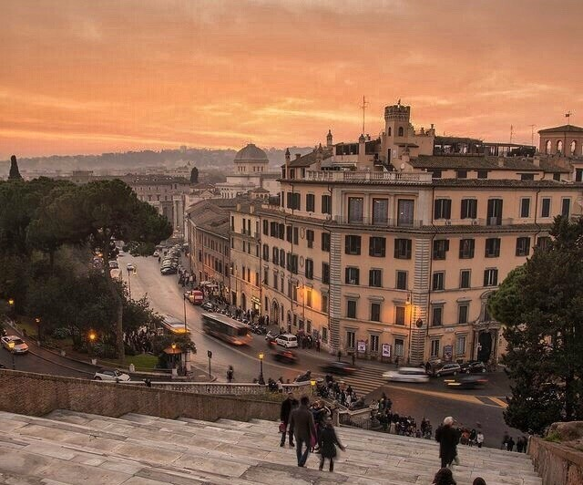 rome and sunset image
