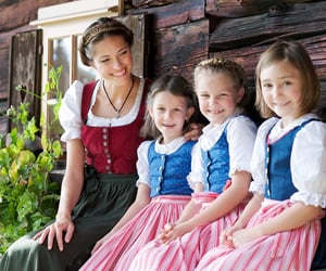 beautiful, blonde, and dirndl image