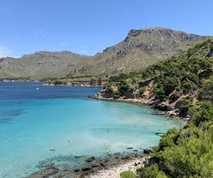 beach, mallorca, and paradise image