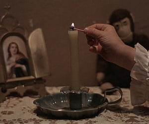 candle, jesus, and vintage image