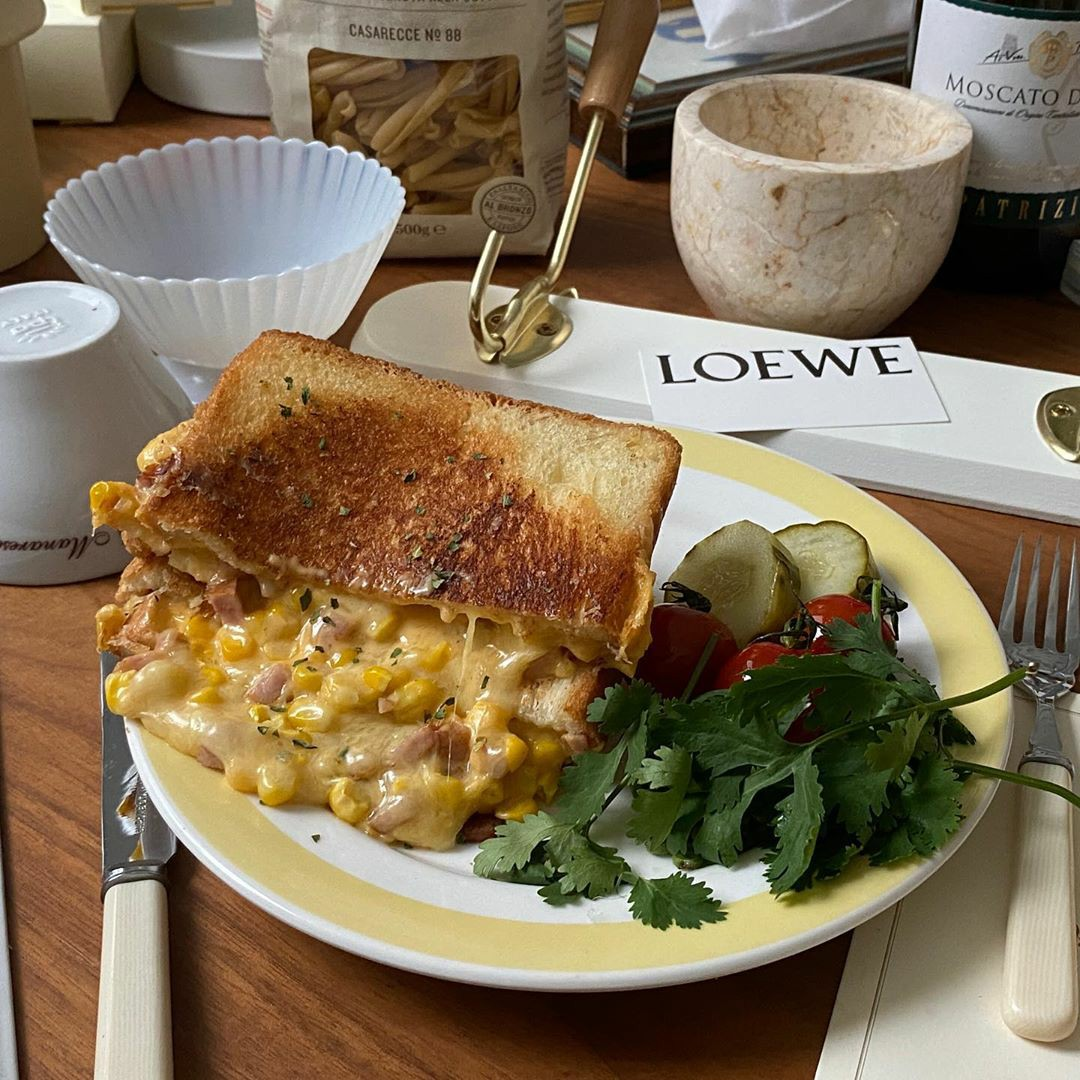 cheese, corn, and food image