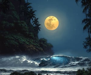 moon, beautiful, and Dream image