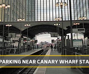 canary wharf, parking, and car parking image
