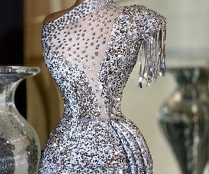 Couture, model, and sparkle image
