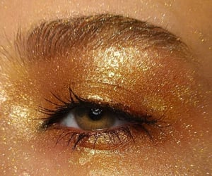 gold, aesthetic, and eye image