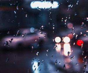 glass and rain image