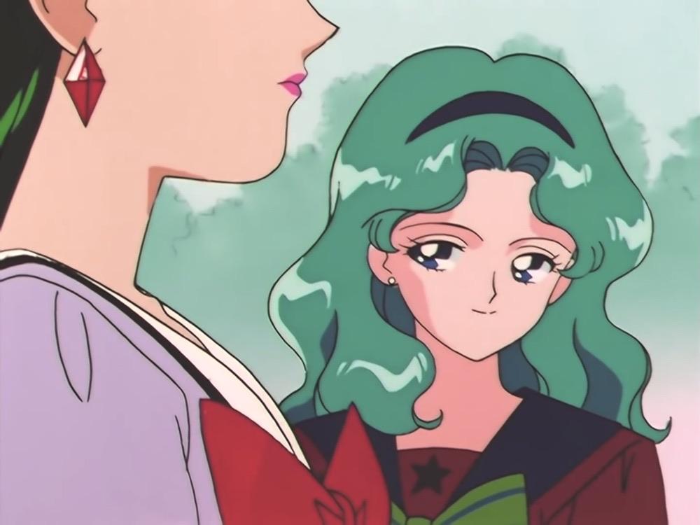 sailor moon, sailor neptune, and michiru kaioh image
