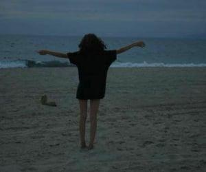 grunge, beach, and sea image