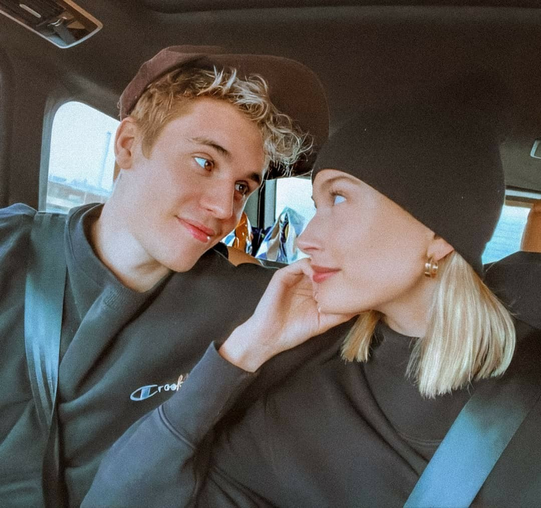 justin bieber, hailey bieber, and couple image