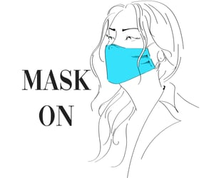 line art, cover, and face mask image