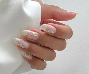 nails, daisy, and white image