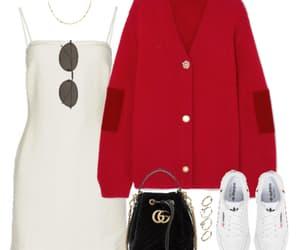 adidas, bag, and cardigan image
