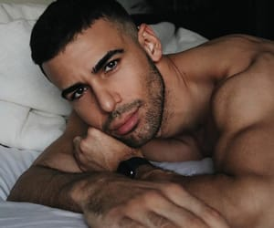 arms, bed, and Man Crush image