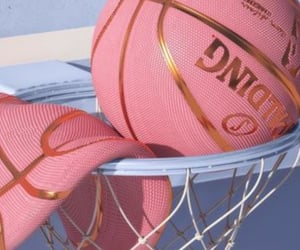 pink, Basketball, and aesthetic image