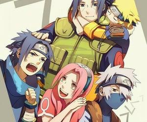 naruto, itachi, and sakura image