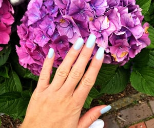 blue, nailart, and babyblue image