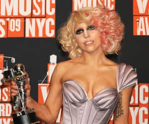 blonde, Lady gaga, and makeup image