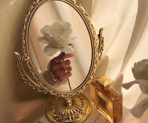 mirror, aesthetic, and rose image