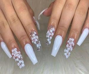 nails, colors, and fake nails image