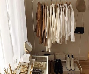 beige, clothes, and closet image
