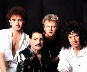 Freddie Mercury, Queen, and john deacon image