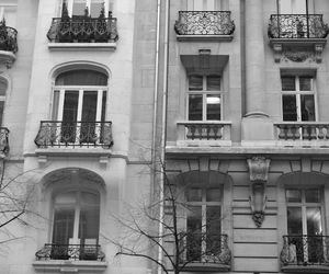 apartment, black and white, and photography image